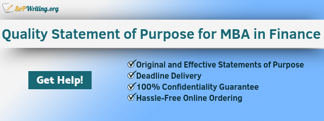 statement of purpose finance writing service