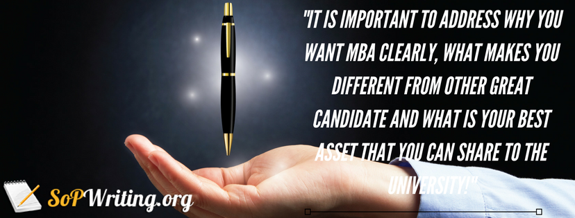 writing statement of purpose for mba finance