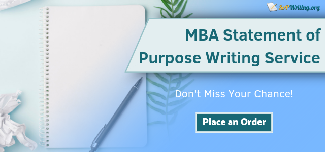 get the best statement of purpose for mba