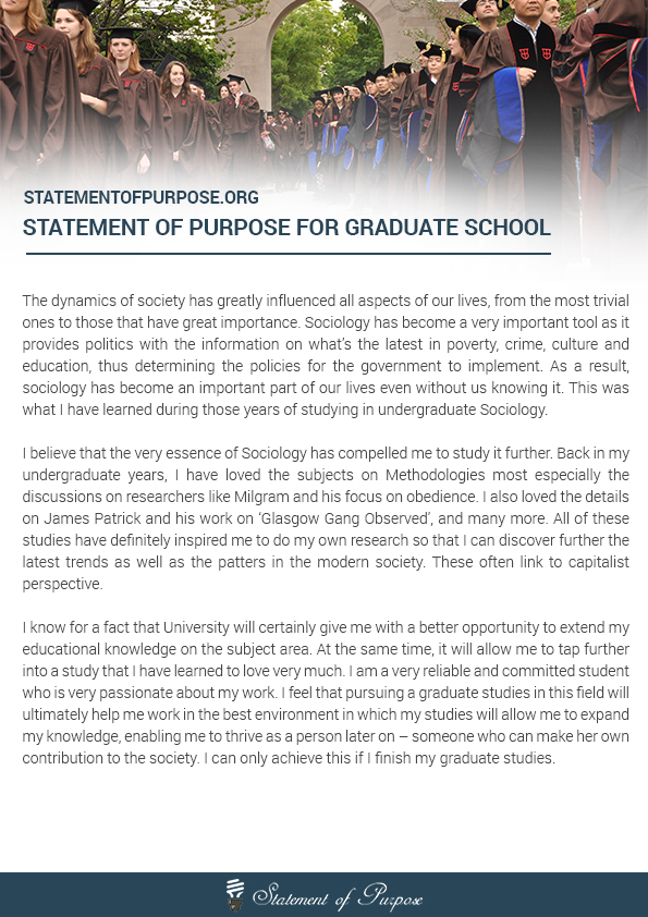 essay for graduate school entry Graduate school - statement graduate and professional schools often require some sort of written statement -- often called a statement of purpose, personal statement, or letter of intent-- as a part of the application.