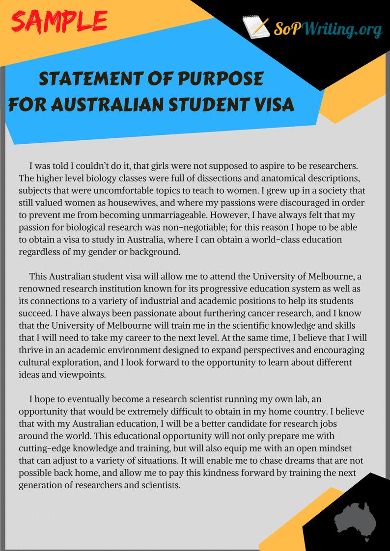 visa statement of purpose  student u0026 39 s guide