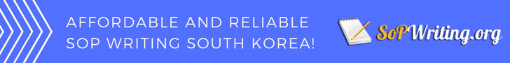 best sop writing korea