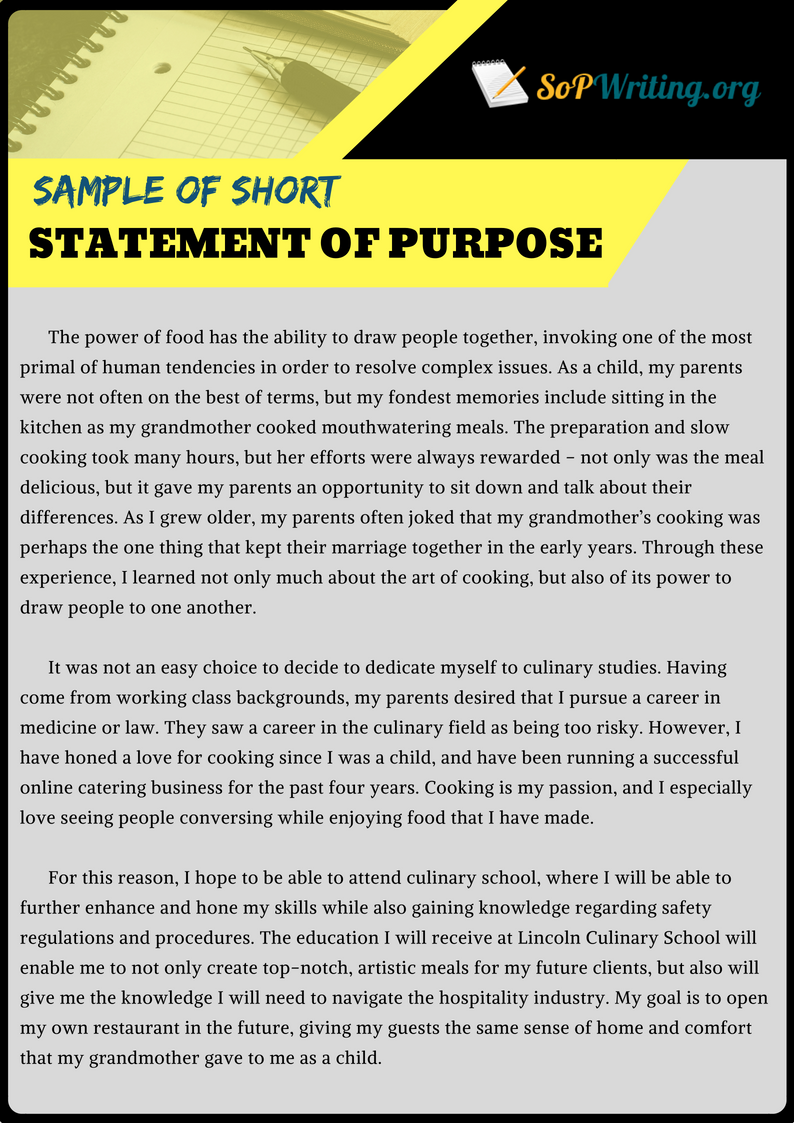 statement of purpose 300 words long