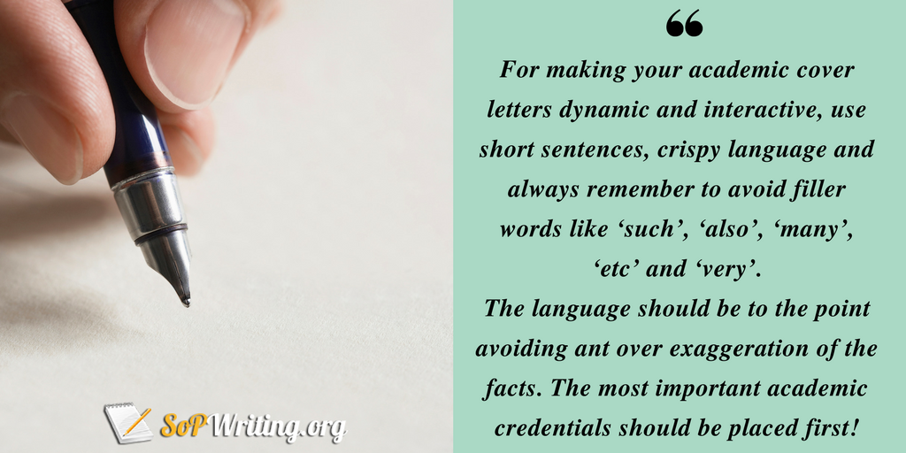 academic cover letter writing advice