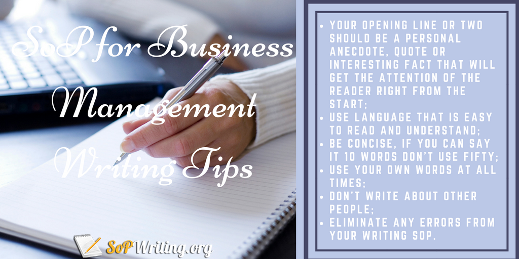 sop for business management writing tips
