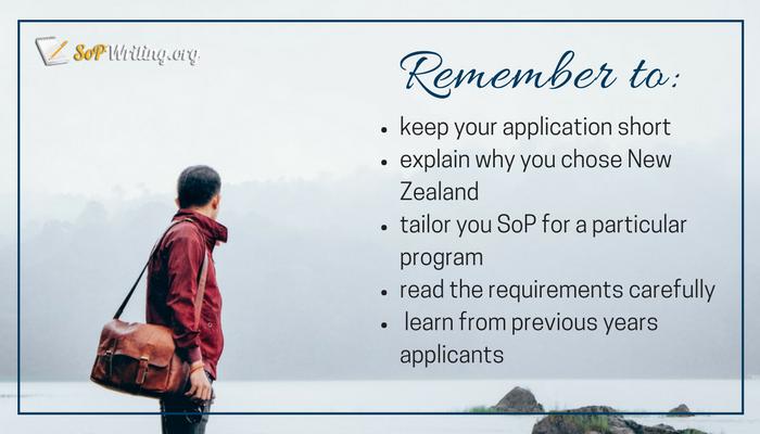 tips for sop for student visa new zealand