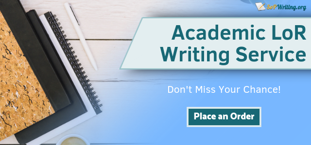 academic letter of recommendation writing service