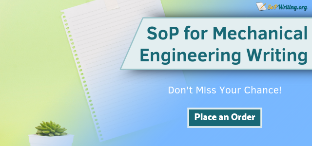 sop mechanical engineering writer