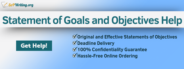 statement of goals and objectives writing help