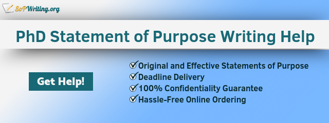 doctoral statement of purpose writing assistance