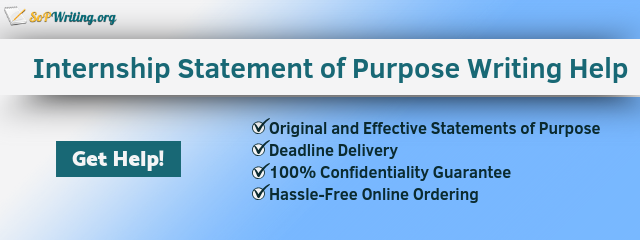 statement of purpose for internship writing online